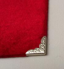 4 x Angoli Libro Di Metallo Argento 15 mm laterale del menu DIARIO ALBUM il Myo a mano artigianale