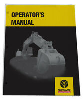 NEW HOLLAND EC600 Excavator Owners Manual Operators Maintenance Book 73179328