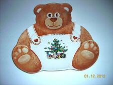NIKKO Fine Tableware Teddy Bear Christmas Tray/Serving Plate