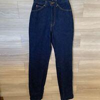 VINTAGE Brittania Hi Waist MOM Jeans Women Sz 2 Dark Wash Denim 1990s