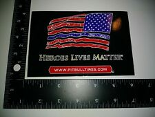 New Heros Lives Matter Sticker Decal Car Sticker Awesome Cool Pitbull Tires