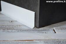 Battiscopa zoccolino in alluminio laccato bianco lucido mm80 €13,99 al ml.