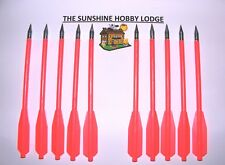 Crossbow Bolts Steel Tipped Nylon Shafts Set of 10 for 50-80lb Pistol Bows