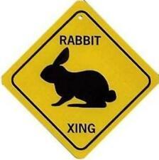 Rabbit Xing Aluminum Sign Won't rust or fade