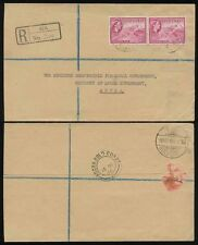 GOLD COAST WA REGISTERED HANDSTAMP OFFICIAL 6d to ACCRA A RECEIVER