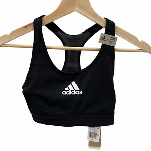 Adidas Size Small Don't Resist Black Medium Support Sports Bra New