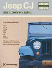 Jeep Cj 2 A 3 A 3B 5 6 Mo M38 M38A1 restauration reconstruire Manuel Owners Handbook