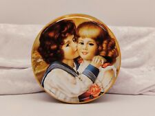 Storage/Cake/Biscuit/Sweet Tin/Container-Painting of Boy & Girl/Children