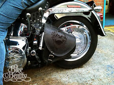 Top Leather Swingarm Skull Single Pannier Saddle Bag Harley Davidson Softail
