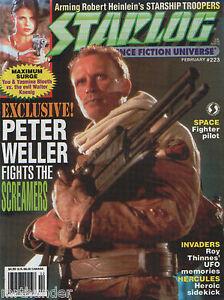 Starlog #223 Peter Weller Maximum Surge Invaders Roy Thinnes Hercules Screamers