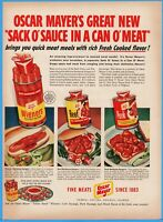 1950 Oscar Mayer Chicago IL Canned Wieners Barbecue Beef Pork vintage print ad