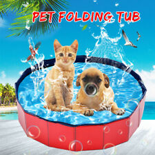 Portable Pet Bath Dog Swimming Pool Foldable Bath Paddling Puppy Bathtub 80*20CM