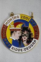 Karnevalsorden Faschingsorden Rosenmontag Kidde-Deugra Helau 2001, wie neu, rare