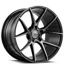 "4ea 19"" Staggered Savini Wheels BM14 Gloss Black w/ DDT Rims (S9)"