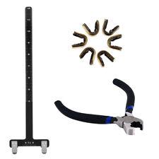 Archery Nocking Points Pliers + Bow Square + 6pcs Bowstring Nock Buckle Clip