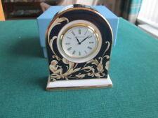 WEDGWOOD CORNUCOPIA SMALL MANTLE CLOCK BOXED