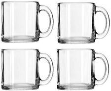 Libbey Crystal Coffee Mug Warm Beverage Mugs Set of 4 (13 oz)