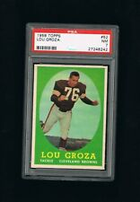 1958 TOPPS LOU THE TOE GROZA PSA 7 graded football card CLEVELAND BROWNS OHIO ST