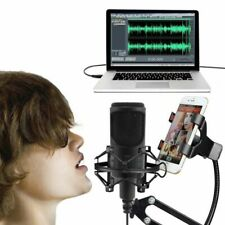 USB Condenser Studio Sound Recording Song  Mic Shock Mount Tripod Stand Music US