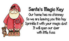SANTA'S MAGIC KEY ETICHETTE ADESIVI x 42-Design-Babbo Natale Pjs Teddy