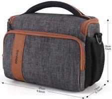 DOMISO Camera Bag Case Waterproof Anti-Shock Shoulder Bag for SLR DSLR GREY