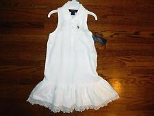 Girl's Ralph Lauren White Knit Dress Size 5-NWT
