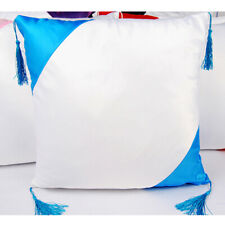 Light Blue Decorative Pillow Case Sublimation Blank Tassel Throw PillowCase New