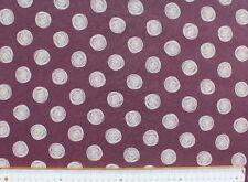 Viskose Jersey Druck, Kreise, Nooteboom Texiles, Aubergine, Breite 150 cm