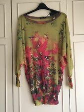 Pretty green and pink top. Size M. From China