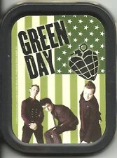 GREEN DAY flag 2004 oblong STASH TIN usa IMPORT official - no longer made