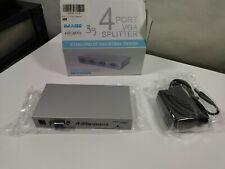 4Port VGA XGA SVGA Video Splitter Sharing Box PC Laptop to TV LCD Monitor 150MHz