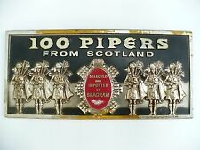 Seagram Scotch Whiskey Plastic Plaque  100 Pipers from Scotland