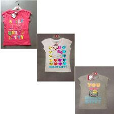 T-shirts, hauts et chemises à col rond manches courtes pour fille de 2 à 16 ans