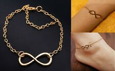 Charm Infinity Gold Punk Hand Chain Bracelet Women's Anklet Chain Girls Gift