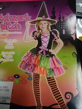 Patchwork witch costume for halloween, Girl M (8-10)