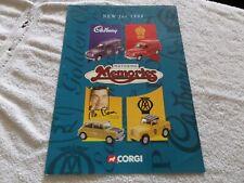 CORGI CATALOGUE NEW FOR 1998 MOTORING MEMORIES MMF 81 MR BEAN    TOYS MODELS
