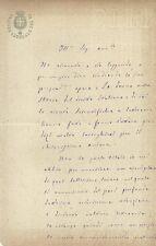 Lettera Autografo Bartolomeo Floris Procuratore Generale del Re Catanzaro 1889