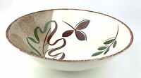 Blue Ridge Pottery Fairmont Brown Green Leaves 9 In Vegetable Bowl Marked 4338