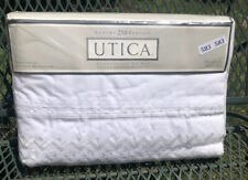 New White Utica Lace Queen Sheet Set Luxury 250 Percale Cotton/ Polyester