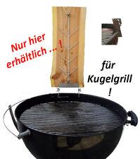 Flammlachsbrett / Räucherbrett für Holzkohle *** Kugelgrill / Rundgrill ***