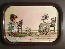 Sarah Kay,  vintage metal serving tray. mid century
