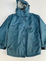 Vintage 90s Ripcurl Jacket Teal Embroidered Aussie Surfwear Sz L Rad