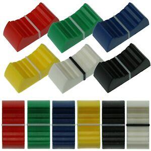 4mm & 8mm Fader Caps - 7 Colours - Mixer Slider Pot / Potentiometer Knobs