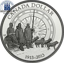 Kanada 1 Dollar Silber 2013 PP Gedenkmünze 100 Jahre erste Arktis Expedition
