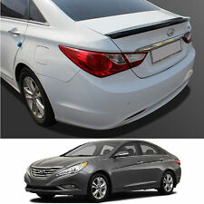 Rear Trunk Wing Lip Spoiler Space for Hyundai Sonata 2011-2014 - Crystal White