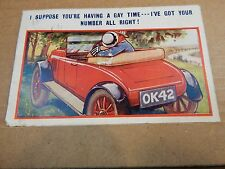 "Humour Postcard "" I've Got Your number Bamforths No 1981 posted 1926  xc4"