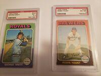 1975 Topps Baseball Set Ex-Mt Brett, Yount, RIce, Carter Rookie