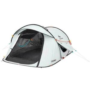 2 Man Person QUECHUA 2 Seconds Waterproof FRESH & BLACK POP-UP Camping Tent NEW!