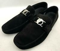 VERSACE COLLECTION Black Suede Medusa loafers Shoes UK11 EU45 US12