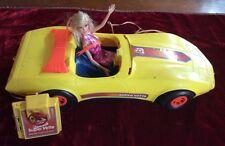 """1979 Vintage Yellow BARBIE """"REMOTE CONTROL SUPER 'VETTE"""" Corvette Car & Barbie"""